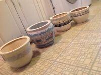 Ceramic planters $10.00 each