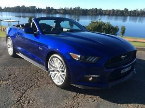 2015 Ford Mustang FM GT 5.0 V8 Blue 6 Speed Automatic Convertible Glenthorne Greater Taree Area Preview