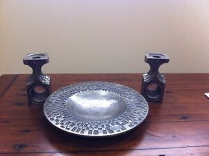 Olav Joff Stainless Steel Bowl & Candleholders North Shore Greater Vancouver Area image 1