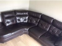 Brown corner leather sofa can deliver