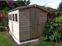 shed - brand new 10x6 £740, Tanalised wood - other styles & sizes available