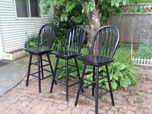 Solid wood swivel bar stools for sale 3 for $100.00
