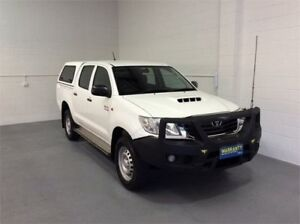 2014 Toyota Hilux KUN26R MY14 SR Double Cab White 5 Speed Automatic Utility Burleigh Heads Gold Coast South Preview