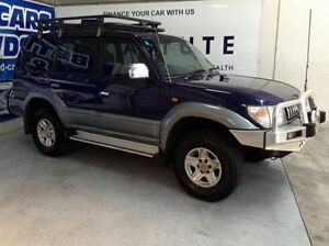 1999 Toyota Landcruiser Prado VZJ95R Snowy GXL Blue 4 Speed Automatic Wagon Bungalow Cairns City Preview