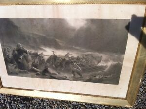 "Steel Engraving  ""TheDeparture"" REDUCED"