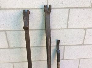 2 Antique CNR numbered pry bars !