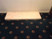 Marble hearth suitable for gas or electric fire.