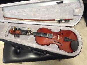 3/4 beginner violin with shoulder rest
