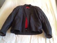 Men's Black Leather Hein Gericke Motorbike Jacket