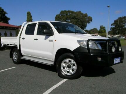 2012 Toyota Hilux MY12 SR AUTO TRAY White 4 Speed Automatic Dual Cab Victoria Park Victoria Park Area Preview