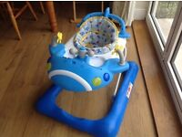 Mothercare Blue Aeroplane Baby Walker