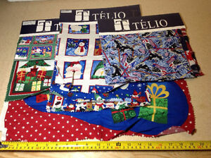 Telio fabric samples for crafts - 20 sampler of mostly Christmas Cambridge Kitchener Area image 1