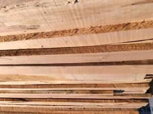 1 inch Thick Kiln Dried Planed Maple Lumber NEW