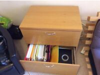 Wooden 2-drawer storage unit £30 for quick sale - collection only WxLxH(cm): 60 x 82 x 73 cm