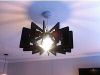 Habitat Sculptural Rib Effect Light Shade