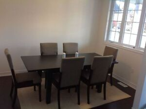 Beautiful large dining table with 6 dining chairs - Collingwood