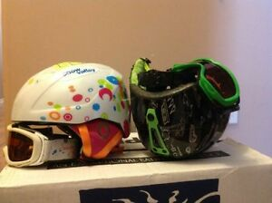 $55.00 each Techno boy & girl helmets with goggles size M