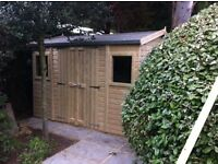shed - brand new 8x6 £599, Tanalised wood - other styles & sizes available