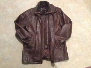 Manteau cuir pour homme