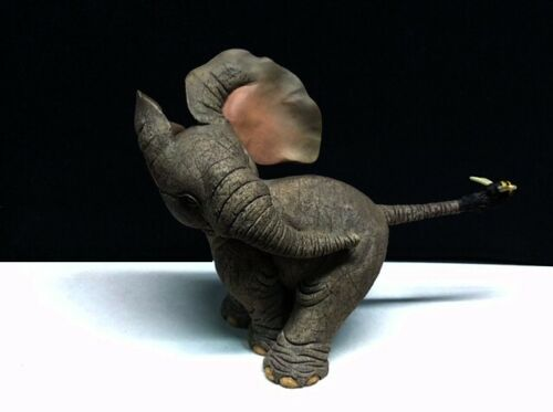 """Elephant with Bee on its Tail """"Realistic"""" Figurine ~ Statue"""