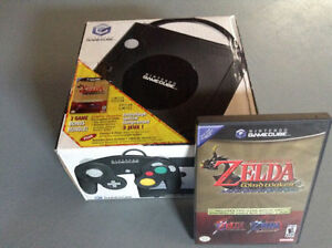 NINTENDO GAMECUBE WITH ZELDA ITEMS