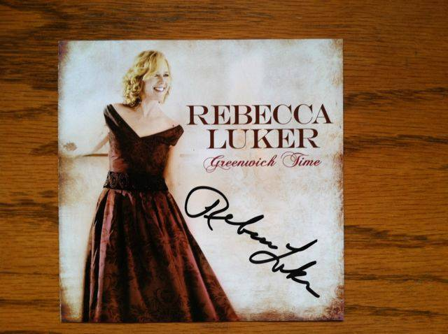 Signed Rebecca Luker  CD Greenwich Time  Autographed Brand New 2009 Unusual Way
