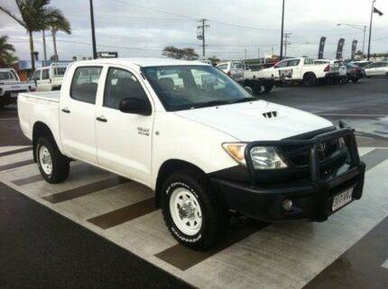 2008 Toyota Hilux KUN26R MY08 SR White 5 Speed Manual Utility Gladstone Gladstone City Preview