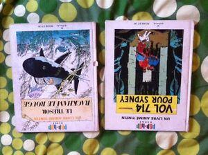 Livre de Tintin hergé pop hop rouge et or