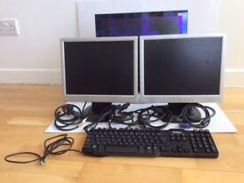 "GNR TS700 15"" Monitor+ Dixons 15"" Monitor+ Xerox 19"" Monitor + DELL Keyboard Bundle"