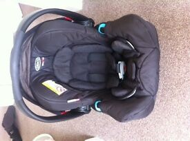 Graco car seat 0+1 with attachment for graco evo pushchair
