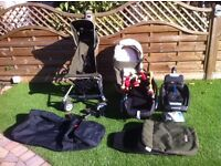 Microlite pushchair, bassinet, Car Seat, base and covers - FULL TRAVEL System