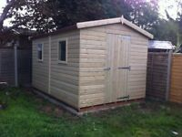 shed - brand new 8x6 £713, Tanalised wood - other styles & sizes available