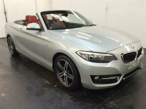 2015 BMW 220i F23 MY16 Sport Line Silver 8 Speed Automatic Convertible Cardiff Lake Macquarie Area Preview
