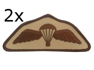 2-x-Parachute-Regiment-Airborne-Desert-Subdued-Wings-Para-Badge-Army-Military