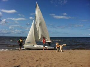 13' Sailboat with beach dolly