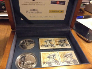 Royal Canadian Mint 2004 Ile Sainte-Croix Coin and Stamp Set