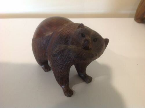 Carved Bear with Fish  (Ironwood?)