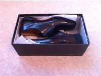 **BRAND NEW LOAKE SHOES** SIZE 8 MENS BLACK L1 CLASSIC LACE UP FORMAL 251B ***£70.00***