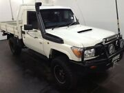 2014 Toyota Landcruiser VDJ79R MY12 Update Workmate (4x4) White 5 Speed Manual Cab Chassis Cardiff Lake Macquarie Area Preview