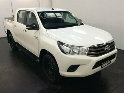 2016 Toyota Hilux GUN126R SR (4x4) White 6 Speed Manual Dual Cab Chassis Cardiff Lake Macquarie Area Preview