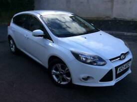 Ford Focus Zetec White 1.6 Petrol.