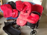 Bugaboo donkey for sale in red unsure model as bought second hand