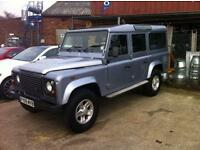 2009 09 LAND ROVER DEFENDER 2.4 110 COUNTY STATION WAGON 5DR 122 BHP DIESEL
