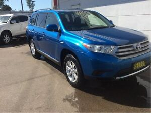 2012 Toyota Kluger GSU40R MY12 KX-R 2WD Blue 5 Speed Sports Automatic Wagon Cardiff Lake Macquarie Area Preview