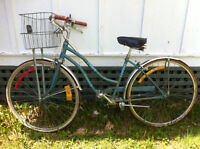 vintage ross bike with basket