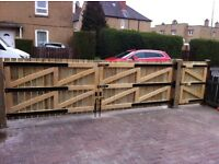 QUALITY DRIVEWAY AND GARDEN GATES WITH HEAVY DUTY HINGES MADE TO MEASURE . CRAFTSMAN BUILT TO LAST