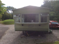 Reluctant Sale of our lovely static double glazed centrally heated 2 bed caravan