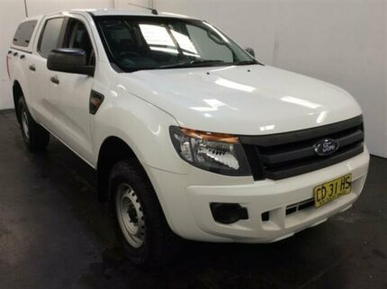2015 Ford Ranger PX XL 2.2 HI-Rider (4x2) White 6 Speed Automatic Crew Cab Chassis Cardiff Lake Macquarie Area Preview