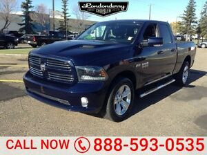 2015 Ram 1500 4WD QUADCAB SPORT Navigation (GPS),  Leather,  Bac