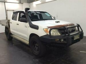 2006 Toyota Hilux KUN26R SR (4x4) White 5 Speed Manual Dual Cab Pick-up Cardiff Lake Macquarie Area Preview